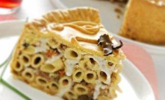фото Пастиччо из макарон и соуса болоньезе