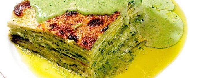 фото Зеленая лазанья с овощами