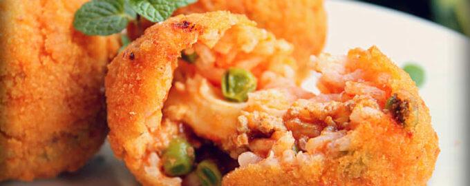 фото аранчини с рыбным соусом